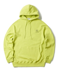 [1/25 예약 배송] BACKSIDE LOGO HOODIE(NEON GREEN)_CTONPHD01UNG