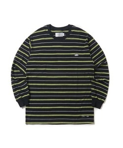 MULTI STRIPE LONG SLEEVE T-SHIRT(BLACK)_CTONPRL02UC6
