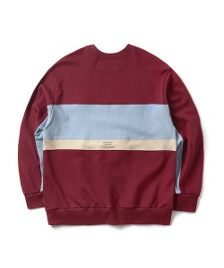 RW COLOR BLOCK SWEATSHIRT(BURGUNDY)_CTONPCR03UP3