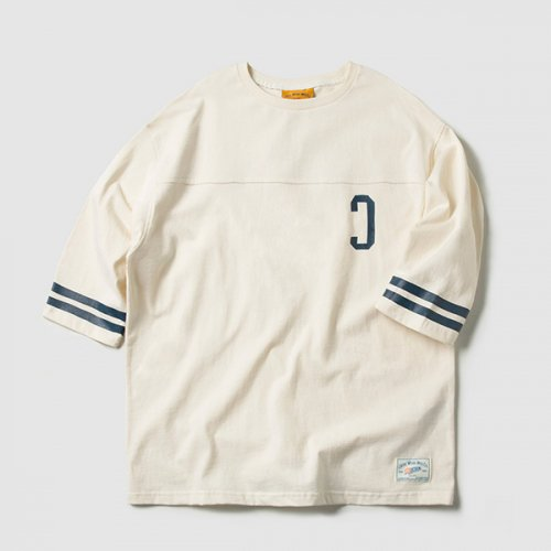 C LOGO FOOTBALL TEE (CREAM)_CMOEURM31MY5