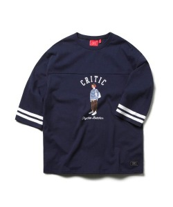 PSYCHO BUTCHER FOOTBALL TEE (NAVY)_CTOEURM01MN0