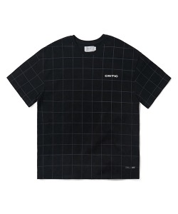 BACKSIDE LOGO GRID T-SHIRT(BLACK)_CTONURS09UC6