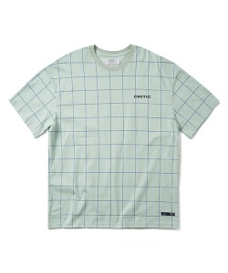 BACKSIDE LOGO GRID T-SHIRT(L/MINT)_CTONURS09UG5