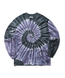 TIEDYE BACKSIDE LOGO LONG SLEEVE T-SHIRT(NAVY)_CTONARL04UN0