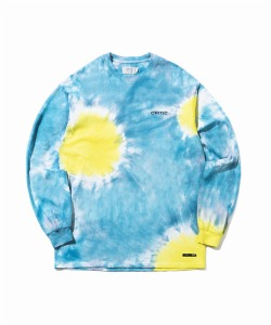 TIEDYE BACKSIDE LOGO LONG SLEEVE T-SHIRT(YELLOW)_CTONARL04UY0