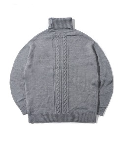 CRT HIGH NECK KNIT(GRAY)_CRONINT02UC0