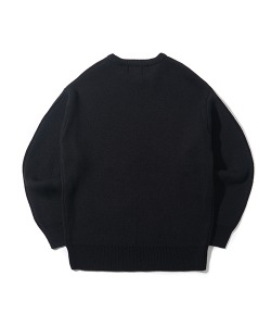CRT ROUND NECK KNIT(BLACK)_CRONINT04UC6