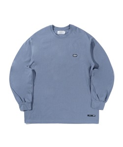 TRAFFIC SIGN LONG SLEEVE(BLUE GRAY)_CTTZPRL03UB8