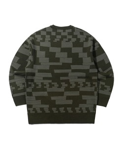 CHECKER BOARD KNIT(KHAKI)_CTTZPNT01UK0