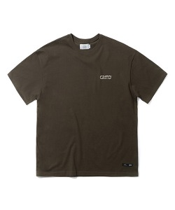 METALIC LOGO T-SHIRT(KHAKI)_CTTZURS17UK0