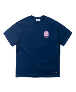 WALKING BRAIN GRAPHIC T-SHIRT(NAVY)_CTTZURS31UN0