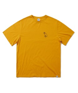 TURNTABLE DOG T-SHIRT(YELLOW)_CRTZURS02UY0