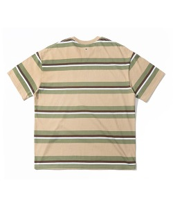 STRIPE POCKET T-SHIRT(L/BEIGE)_CRTZURS07UE3