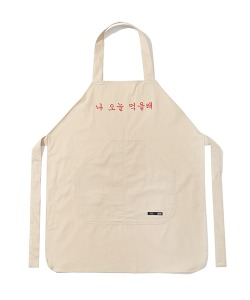 HAPPY FOOD X CRITIC CHEF APRON(CREAM)_HFTZUAC08UY5