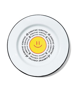 HAPPY FOOD X CRITIC SMILE ENAMEL DISH(WHITE)_HFTZUAC01UC2