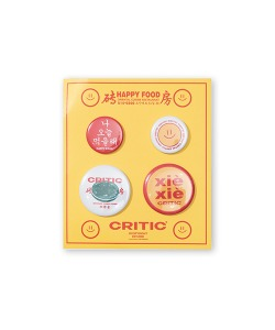 HAPPY FOOD X CRITIC PIN BADGE SET(WHITE)_HFTZUAC03UC2
