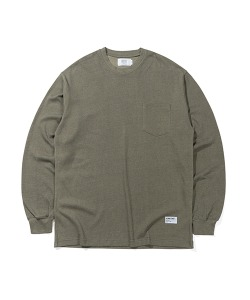 PIGMENT POCKET LONG SLEEVES(KHAKI)_CTTZARL06UK0