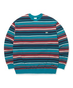 STRIPE SWEATSHIRT(RED)_CTTOPCR06UR0