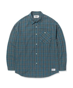 POCKET CHECK SHIRTS(BLUE GREEN)_CTTOPLS01UB7