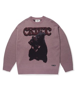 BLACK BEAR KNIT(VIOLET)_CTTOPKT04UV1