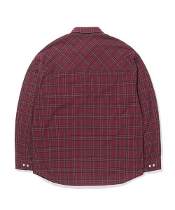 POCKET CHECK SHIRTS(BURGUNDY)_CTTOPLS01UP3