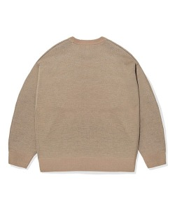 BLACK BEAR KNIT(L/BEIGE)_CTTOPKT04UE3
