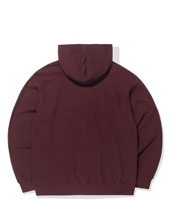 PATCH LOGO HOODIE (BURGUNDY)_CTTOPHD02UP3