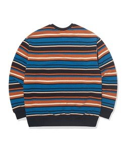 STRIPE SWEATSHIRT(ORANGE)_CTTOPCR06UO0